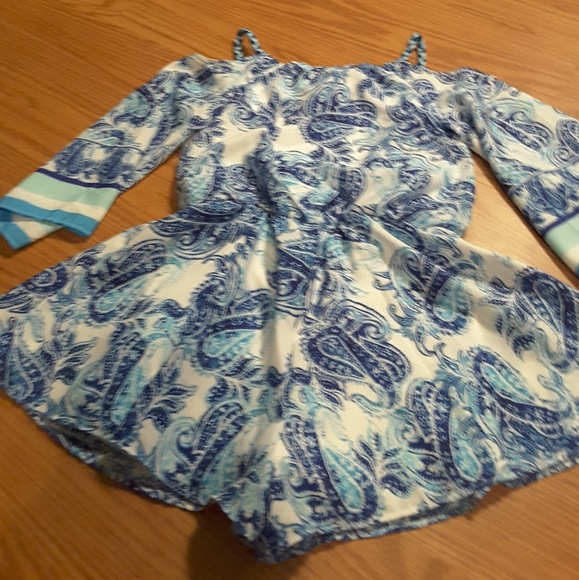 emily west Other - Mackenzie X Emily West blue paisley romper sz 8